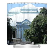 Old Historical Building At Botanical Gardens Of New York Shower Curtain