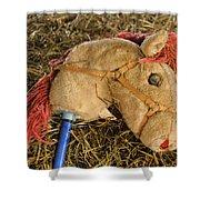 Old Hobby Horse Head Shower Curtain