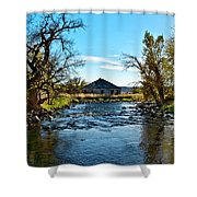 Old Homestead Along Hwy 16 Shower Curtain