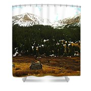 Old Homestead In The Colorado Mountains Shower Curtain