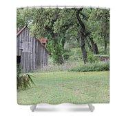 Old Horse Barn Shower Curtain