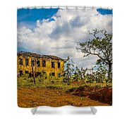 Old House And Cows Shower Curtain