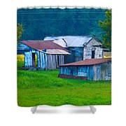 Old House And Harvest Time 2 Shower Curtain