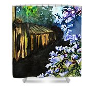 Old House And New Flowers Shower Curtain