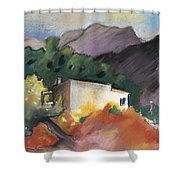 Old House In Altea La Vieja 02 Shower Curtain