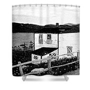 Old House In Black And White Shower Curtain