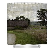Old House In Culloden Battlefield Shower Curtain