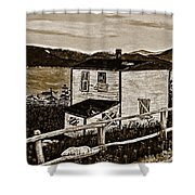 Old House In Sepia Shower Curtain