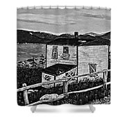 Old House - Memories - Shutters And Boards Shower Curtain