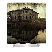 Old House On Canal Shower Curtain