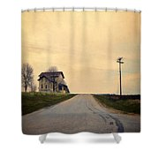 Old House On Country Road Shower Curtain