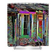 Old House Pop Art Shower Curtain