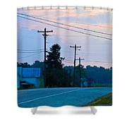 Old Houses And Sunset Shower Curtain