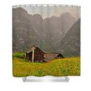 Old Houses Shower Curtain