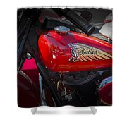 Old Indian Cycle Shower Curtain