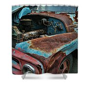 Old International Hood And Fender  Hdroc4224-13 Shower Curtain