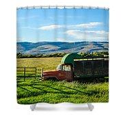 Old International Livestock Truck Shower Curtain