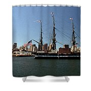 Old Iron Sides  Shower Curtain