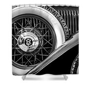 Old Jag In Black And White Shower Curtain