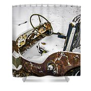 Old Jeep - New Snow Shower Curtain