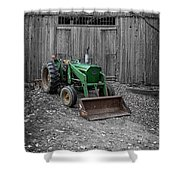 Old Tractor By The Barn Etna New Hampshire Shower Curtain