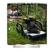 Vintage Lawn Mower Shower Curtain