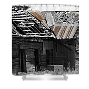 Old Kansas Homestead Shower Curtain