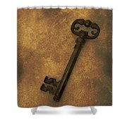 Old Key Shower Curtain