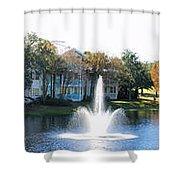 Old Key West Resort Panorama Walt Disney World Shower Curtain
