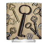 Old Keys Shower Curtain