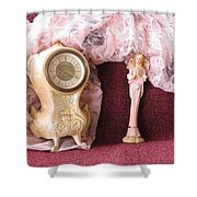 Old Lace And Time Shower Curtain