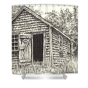 Old Lanes Cove Fishing Shack Shower Curtain