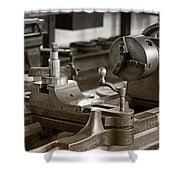 Old Lathe Shower Curtain