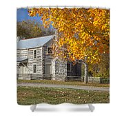 Old Log House Shower Curtain