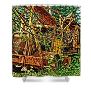 Old Logger-hdr Shower Curtain