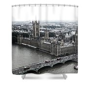 Old London .. New London Shower Curtain