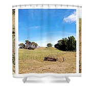 Old Machine Shower Curtain by Les Cunliffe