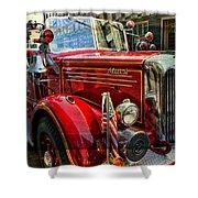 Old Mack Firetruck Shower Curtain