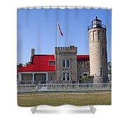 Old Mackinac Mi Lighthouse 19 Shower Curtain