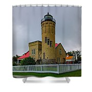 Old Mackinac Point Lighthouse Shower Curtain