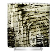 Old Mahon Town Market Shower Curtain