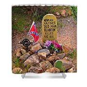 Old Man Clanton At Boot Hill Shower Curtain