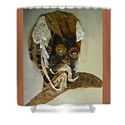 Old Man In Distress Shower Curtain