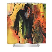 Old Man In Morocco Shower Curtain