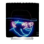 Old Man In Neon 2 Shower Curtain