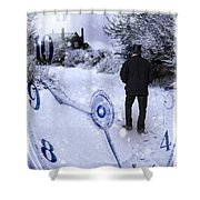 Old Man In Tophat Shower Curtain by Amanda Elwell