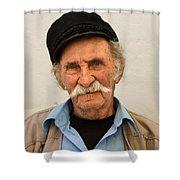 Old Man Of Mykonos Shower Curtain