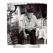 Old Man Of Old Town Shower Curtain