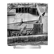 Old Man Of San Pedro-bw Shower Curtain