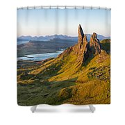 Old Man Of Storr - Pano Shower Curtain